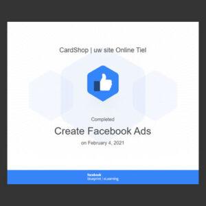 Create Facebook Ads certificat Blueprint